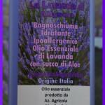 Bagnoschiuma idratante ipoallergenico con olio essenziale di Lavanda Angustifolia e succo di Aloe biologico